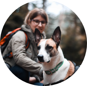 Icône ronde chien & Léa Taroux